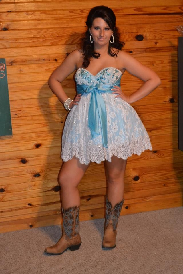 Homecoming Dresses With Cowboy Boots - Evening Wear