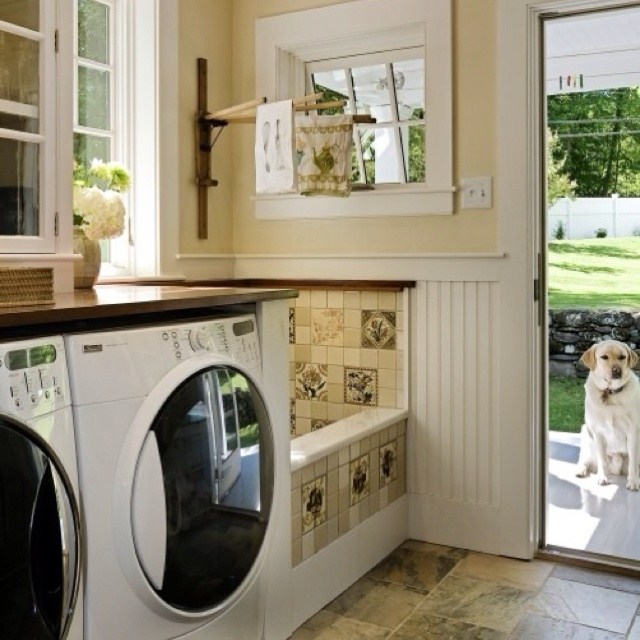 Laundry Room With A Bath Tub For Dogs Dream Home Pinterest