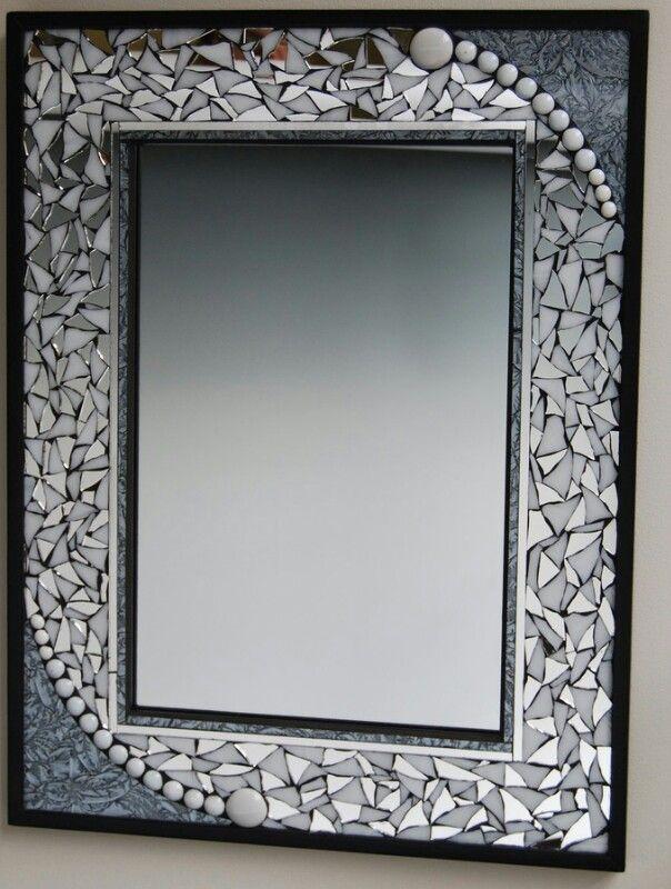 Rectangular mosaic mirror | The Craft Box | Pinterest