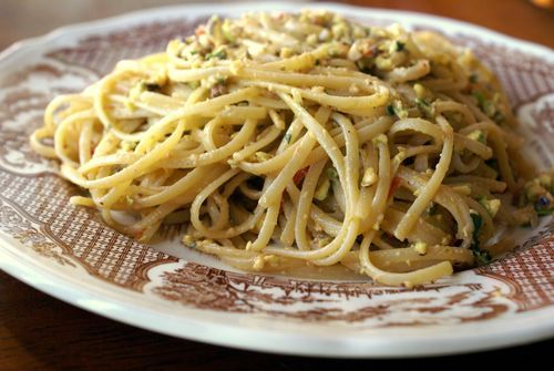 Pasta with Pistachio Pesto | Mmmm Recipes | Pinterest