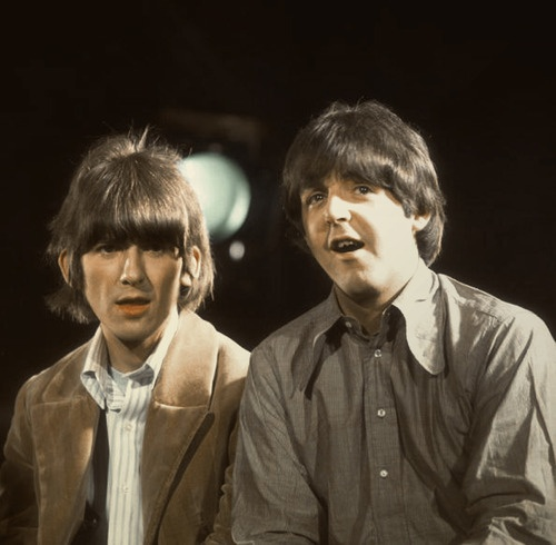 George Harrison and Paul McCartney | John, Paul, George ... George En Paul