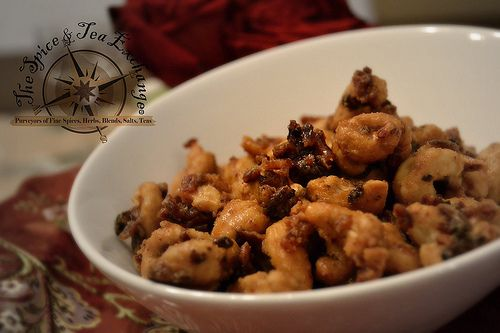 Candied Bacon Cashews! Yummy! I made this for Valentines day.