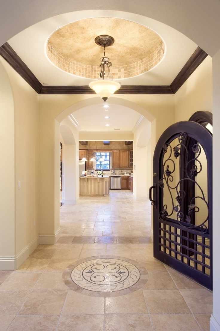 Winery in home designed and built by orlando custom for Leblanc custom homes