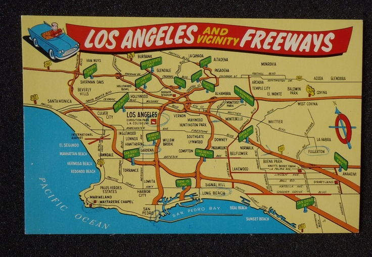 Map Of Los Angeles Freeways  Places I39ve Been  Pinterest