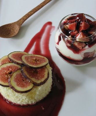 Tartelette: Goat Cheese And Fig Cake with Fig Mascarpone Verrine