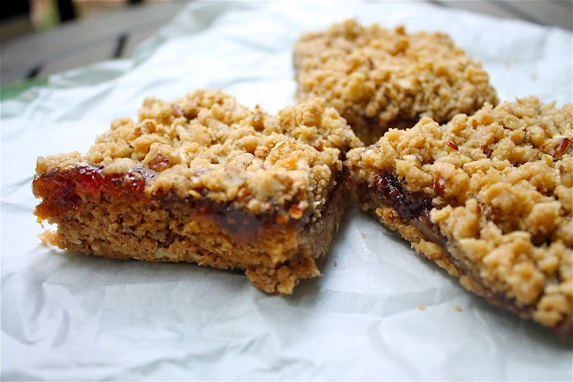 Raspberry Oat Bars | Desserts | Pinterest