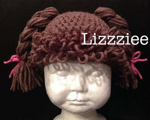 Crochet Cabbage Patch Hair Hat Pattern