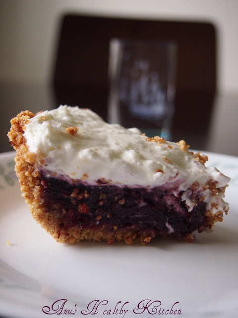... Healthy Always...: Blueberry Pie with Almond Crust (Made from scratch