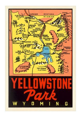 Yellowstone National Park map/poster