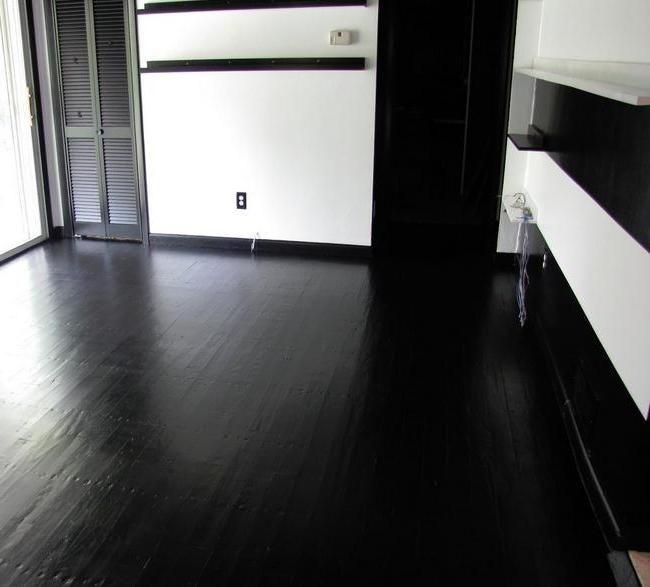 Concrete floor paint black | My future home | Pinterest