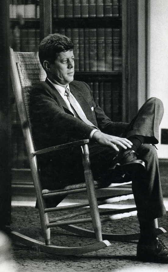 John Kennedy In His Famous Rocking Chair  Mr. President  Pinterest
