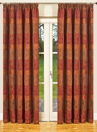 Red and gold curtains curtains drapes pinterest for Red and gold drapes