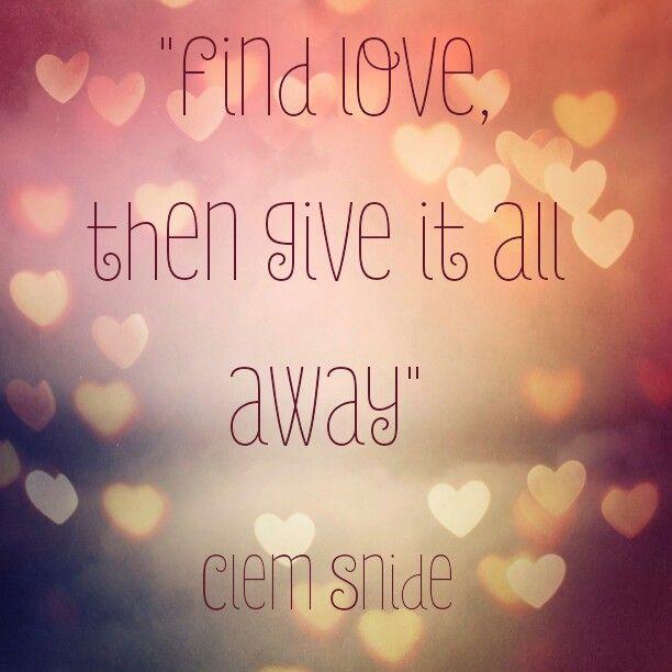 Find love by clem snide lyrics