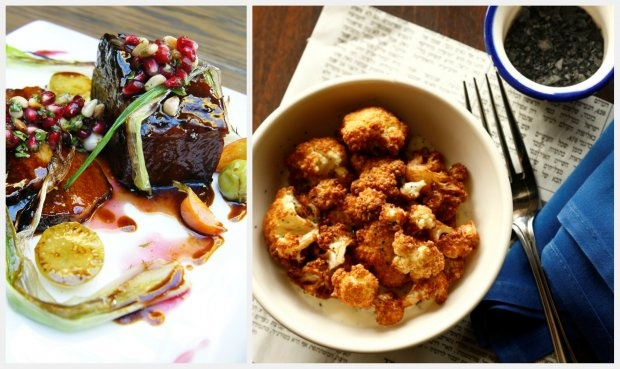 Pomegranate brisket from Mezze in Los Angeles (left) and deep-fried ...