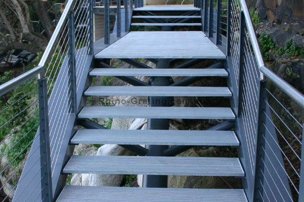Steel Stair Treads - Custom Aluminum Bar Grating, Stainless Steel