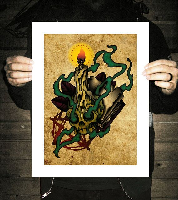 666  Neo-Traditional Tattoo Flash  Old School  Art Print 12x16Neo Traditional Flash Art