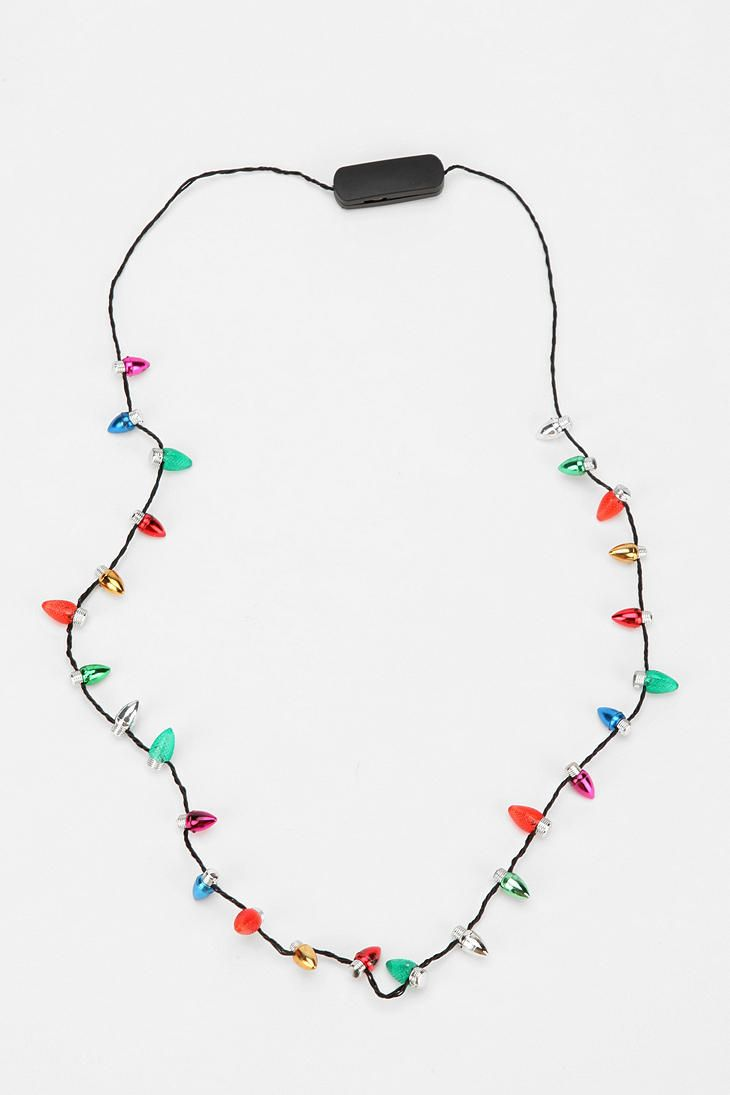Holiday Flashing Light Necklace | Christmas 365 | Pinterest