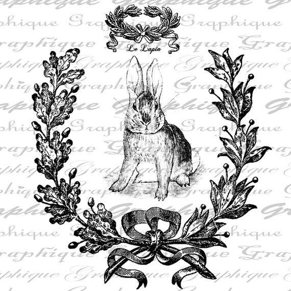 vintage bunny 1  Easter  Pinterest
