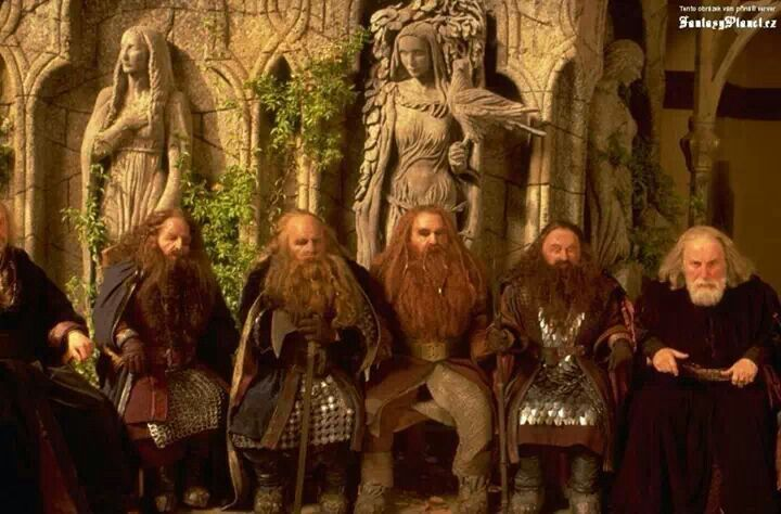 Dwarves in Elrond's Council | Lord of the Rings | Pinterest Lordoftherings