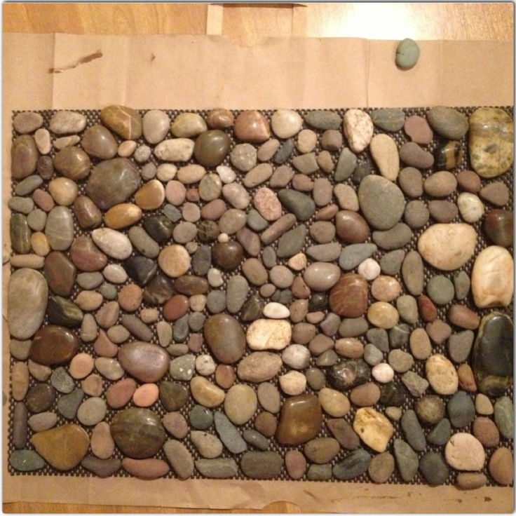 River rock mat i made crafty ideas pinterest for River stone doormat