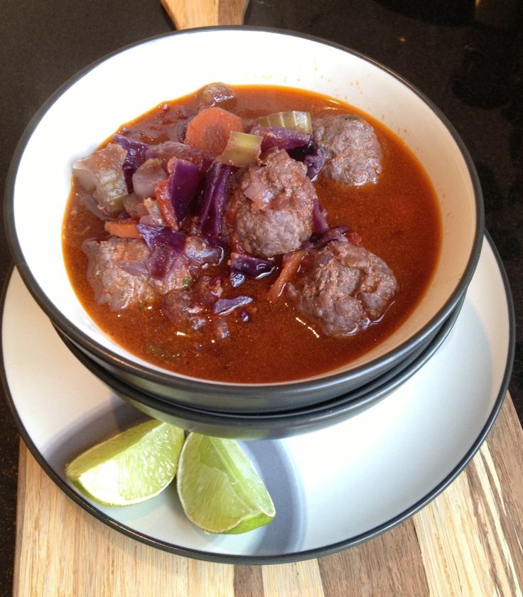 Spicy Paleo Meatball Soup