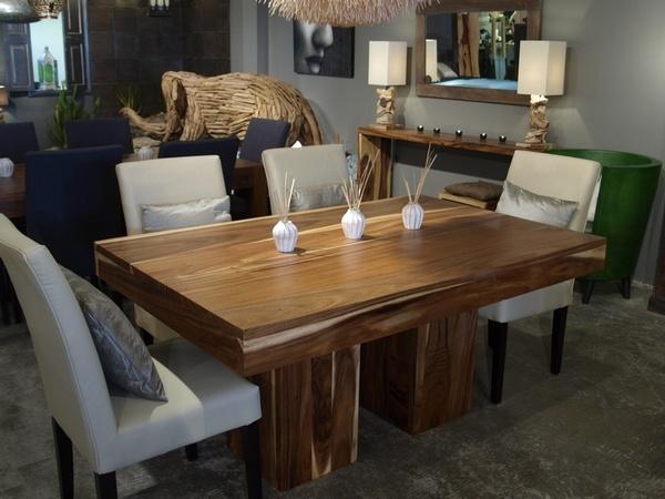 Table de cuisine artemano home pinterest for Table cuisine bois exotique
