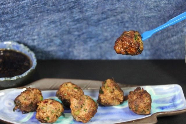 Scallion Meatballs with Soy-Ginger Dipping Sauce