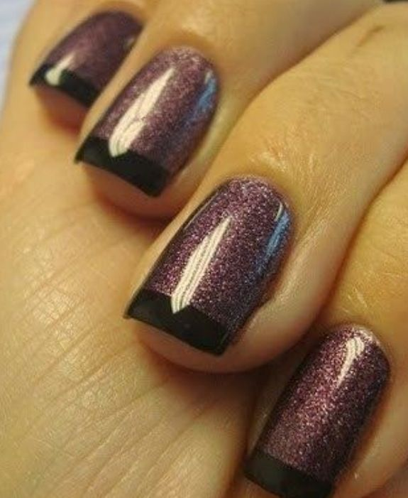 Alternative french manicure. Get the Look at Polished Nail Bar www