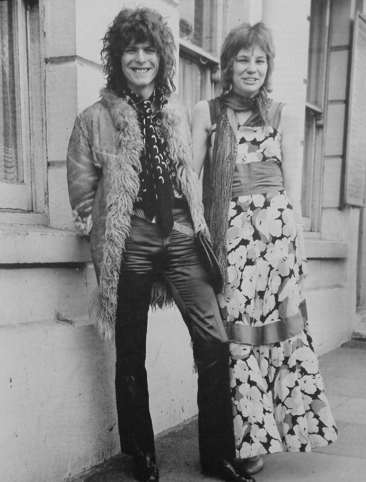 The Bowies on their wedding day, via Sweet Jane