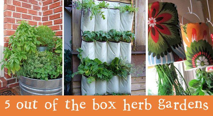5 unique herb garden ideas garden pinterest for Unique vegetable garden ideas