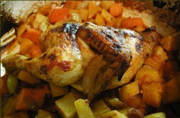 Moroccan-Style Roast Chicken with Vegetables | BigOven
