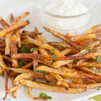 Baked Seasoned Fries With Skinny Garlic Aioli Recipes — Dishmaps