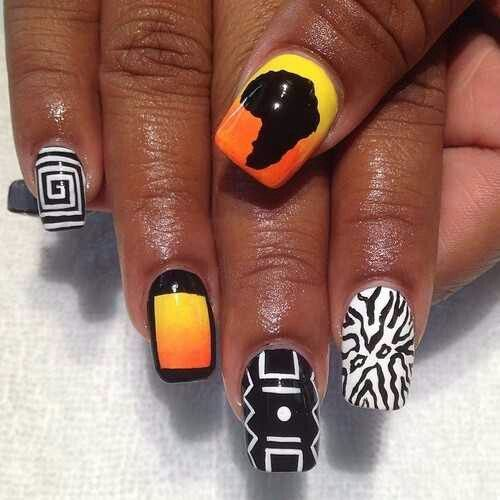 African Nail Art: African Inspired Nail Art