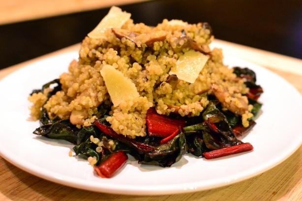 Quinoa, Mushroom and Swiss Chard Salad | Food | Pinterest