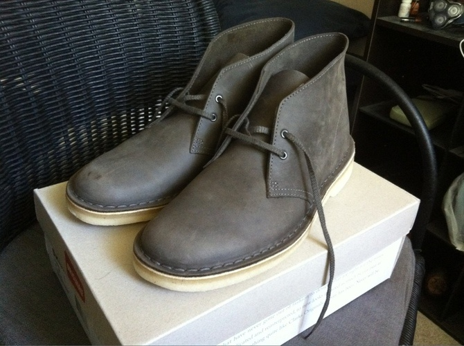 clarks grey saddle leather desert boots clothing staples