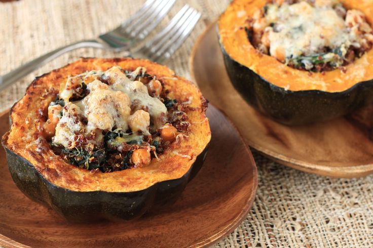 Quinoa and kale stuffed acorn squash | Recipe
