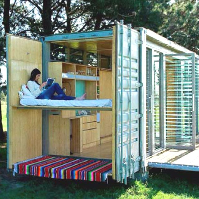 Shipping container home living large pinterest - Large shipping container homes ...