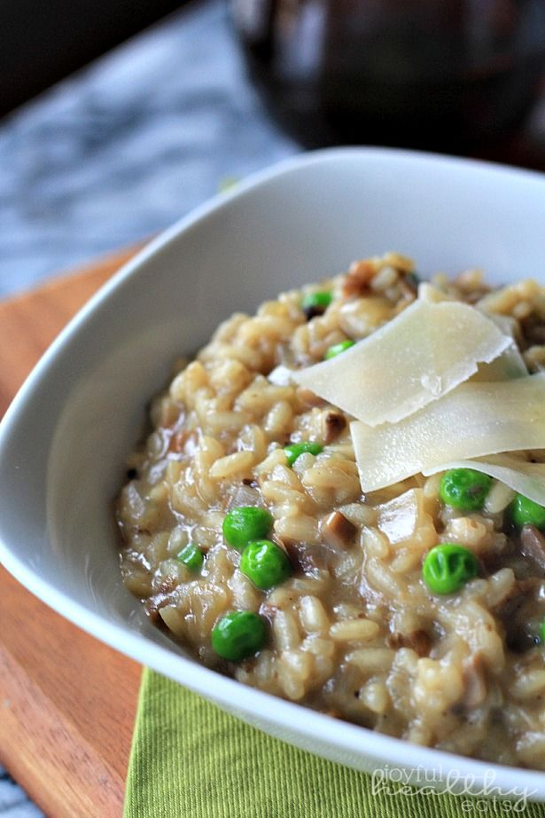 Wild Mushroom Risotto with Peas