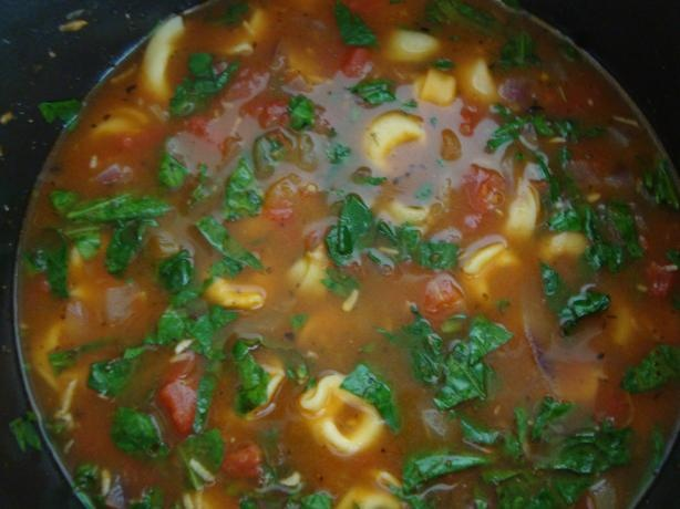 Tortellini Tomato Spinach Soup My favorite soup to make!