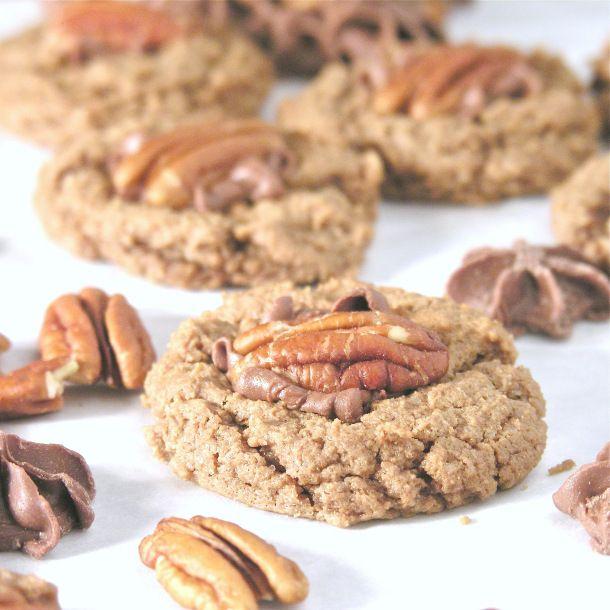 Caramel Pecan Cookies! With caramel cake mix