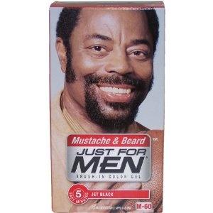 For men brush in color gel for mustache beard amp sideburns jet black