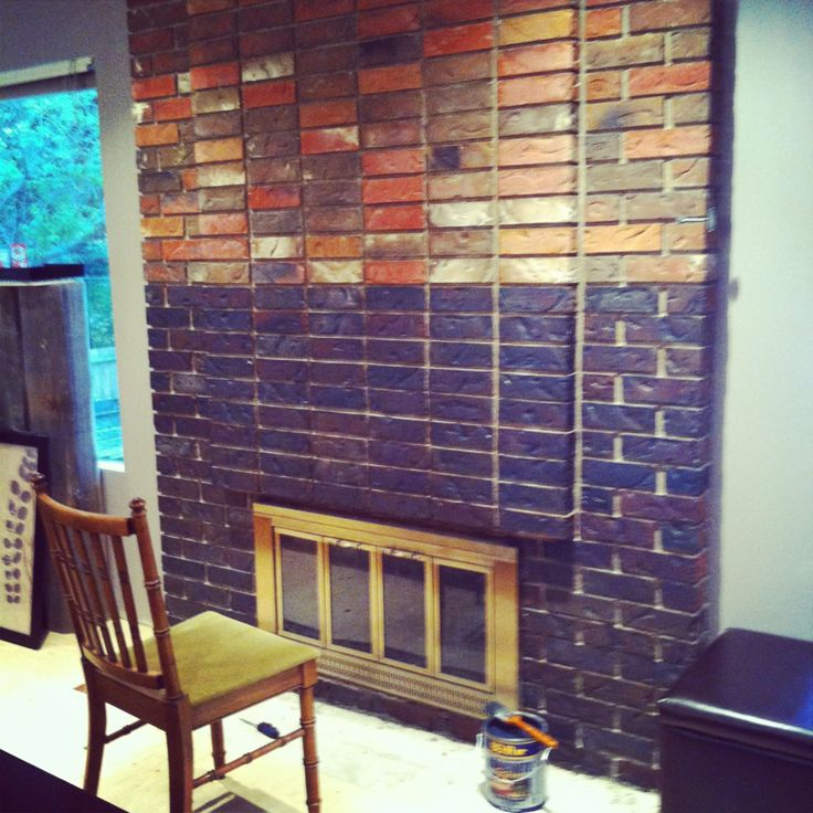 staining fireplace brick for the home