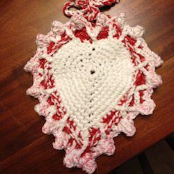 Free Crochet Pattern BK4K-0602003 Heart Potholder : Lion