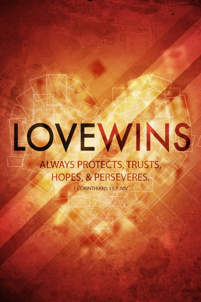 Quotes About Love Wins : Love wins.