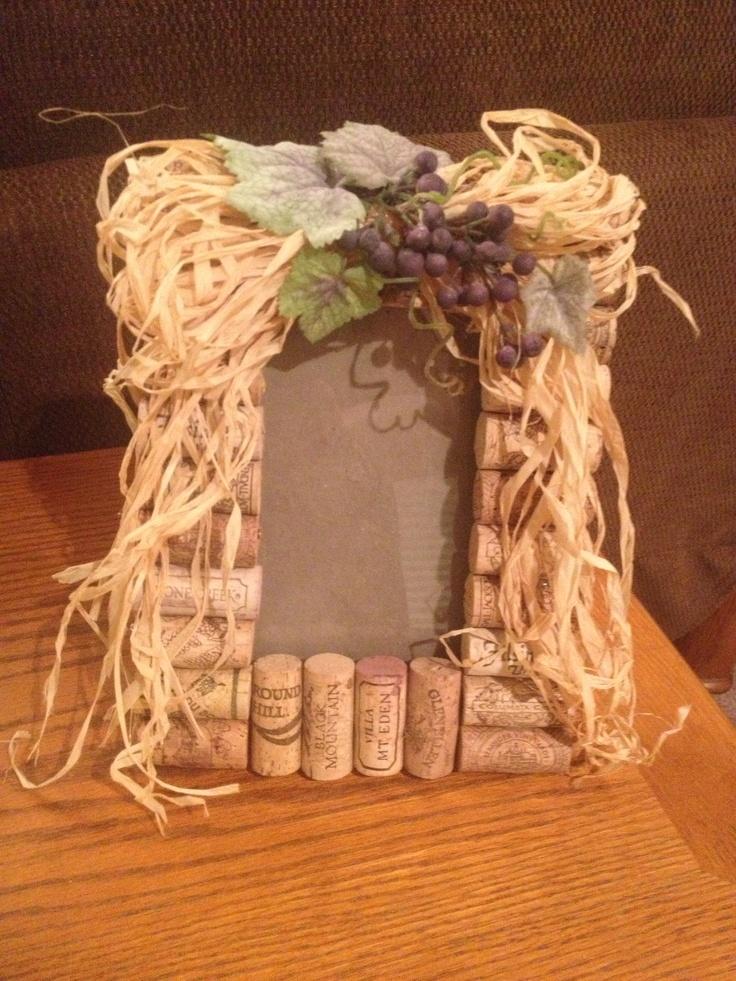 Wine cork picture frame  Wine  Pinterest