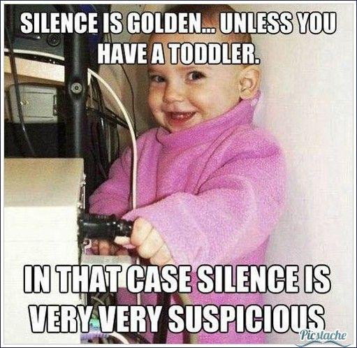 Silence is golden unless...