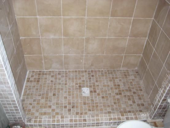 tiling a shower floor 0 diy projects upcycle reuse