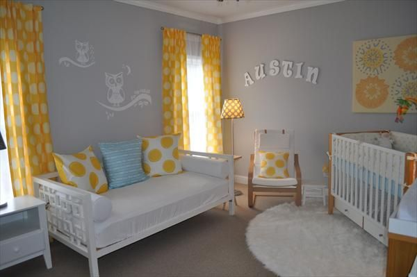 Owl Themed Nursery With Yellow And Grey Owl Nursery