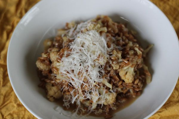 Cauliflower and farro risotto | Kimmy's Bake Shop | Pinterest