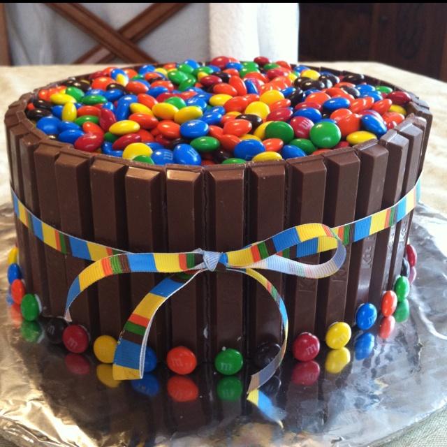 Kit-Kat/M&M Cake
